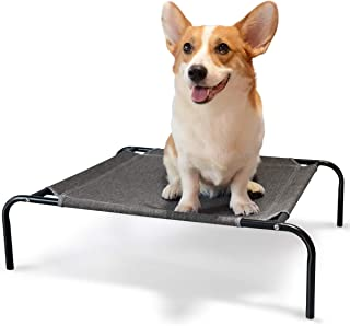Elevated Pet Cot Bed Cooling Portable Polyester Washable Dog Bed Breathable Outdoor Indoor Use Rest Pet Bed for Dogs & Cats Camping Beach