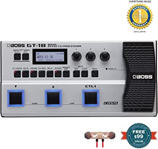 BOSS GT-1B Bass Effects Processor includes Free Wireless Earbuds - Stereo Bluetooth In-ear and 1 Year Everything Music Extended Warranty