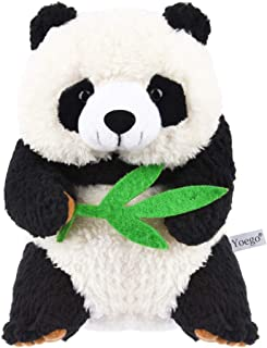 Yoego Cute Mimicry Pet Talking Panda Repeats What You Say Plush Animal Toy Electronic Panda Panda for Children/Toy Gifts Birthday Gifts, 4 x7 inches