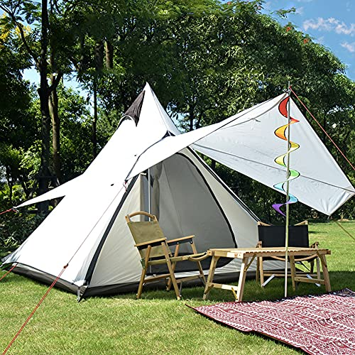 Massage-AED Tienda de campaña Tipi piramidal para Exteriores, portátil, Impermeable, de Doble Capa, Tienda...