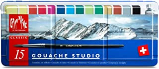 Caran d'Ache Gouache Studio 15 Assorted Colors Set in Metal Tin