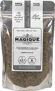 Sel Magique Salt & Pepper Herb Blend - Fleur De Sel From France, Natural & Unrefined (8oz Large Bag)