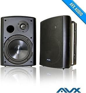 """6.5"""" Outdoor Weatherproof Patio Speaker Pair (Black) PSP-B1 - by AVX Audio"""