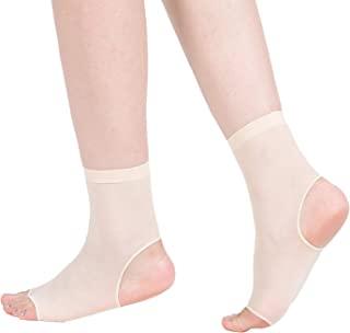 Open Toe and Open Heel Socks for Peep Toe Shoes, High Heels, Sandals, etc. - Hosiery Material, Ankle Socks, One Size, 4 Pairs