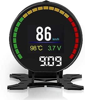 "ABUYCS CAR 2.84"" TFT HUD Disaplay OBD2 MPH/KMH LCD Digital Speedometer Tachometer Odometer Scanner Diagnostic Tool Overspeed Alarm Overheating Alarm Turbine Pressure Display Low Voltage Alarm"