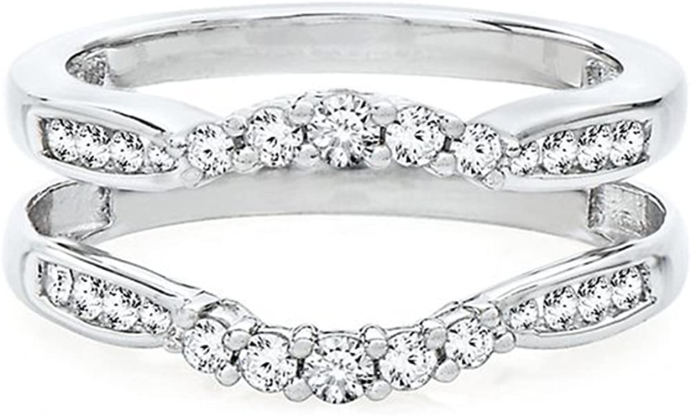 Jewelry Star 14K Indefinitely White Recommended Gold Plated in Silver 2 ct Sterling 925 1