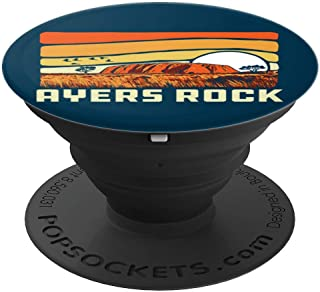 Ayers Rock Uluru Australia Landmark Vintage 80s PopSockets Grip and Stand for Phones and Tablets