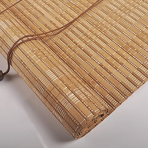 KJHGMNB Estor de bambú Natural, Cortina Bambu, Persiana Enrollable bambú, Decoración Retro, Respirable, para Porche, Patio, balcón, Cocina, Puertas, Personalizable,50x60cm/20x24in