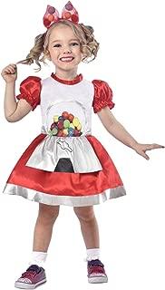 Toddler Girls Gumball Machine Cutie Costume with Gum Ball Dress & Headband