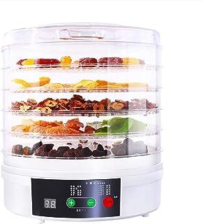 WY- Food Dehydrator Déshydrateur Alimentaire à 5 Plateaux avec Minuterie et Contrôle de Température, sans BPA, 350 W (Blanc)