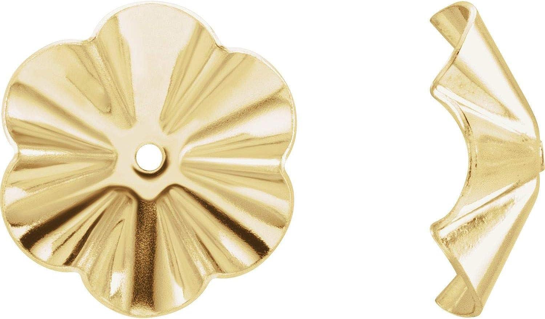 14k Gold OD Buttercup Earring Jackets Fine Jewelry for Women