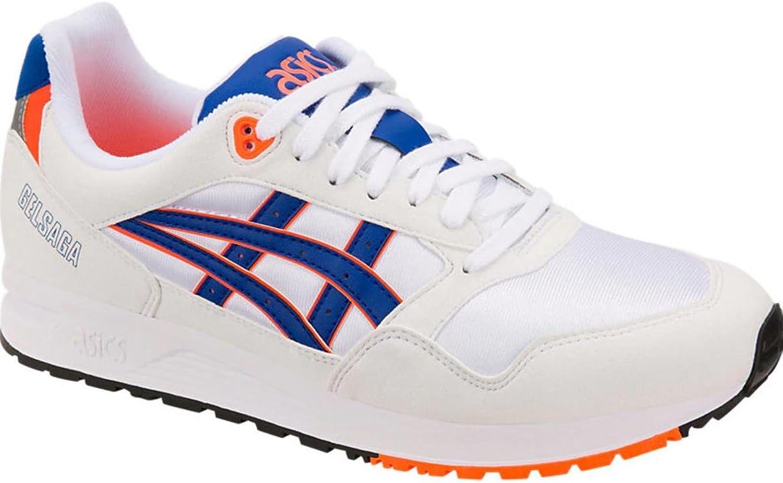 ASICS Gel -Saga springaning springaning springaning skor vit blå herrar 12.5 M USA  Woherrar 14 M USA  köp bäst