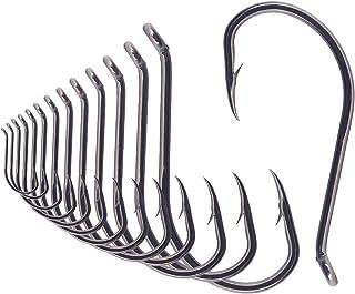 Octopus-Hook-Fishing-Beak-Circle-Hooks-Freshwater-Red-Black-100-50 Pack