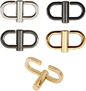EvaGo 5 Pcs Adjustable Metal Buckles for Chain Strap Bag to Shorten Your Bag Metal Chain Length, Chain Links Tiny Clip for Bag Chain Length Accessories