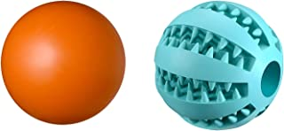 Sponsored Ad - OUQIQI Dog Toy Ball and Bouncy Ball for Puppy Small Large Dog Teeth Cleaning/Chewing/Playing/Food Dispensing