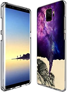 Customized Protective Cover with Slim Soft Durable TPU Ultra-Clear Silicone UV Printing Smoking Old Man Phone Case for Samsung Galaxy S9 Plus