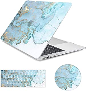"""MacBook Air 13 inch Case,Arike Marble Design Slim Plastic Hard Case with Keyboard Cover & Mouse Pad Compatible for MacBook Air 13"""" Old Version 2010-2017 (A1466 &A1369)"""
