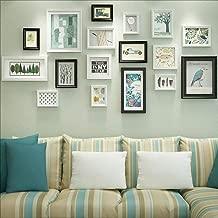 Photo Wall Creative Living Room Black Blue Decorative Gift Modern Art Photo Frame Photo Wall (Color : Black)