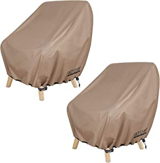 ULTCOVER Waterproof Patio Chair Cover – Outdoor Lounge Deep Seat Single Chair Cover 2 Pack Fits Up to 32L x 34W x 32H inches