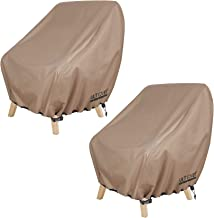 ULTCOVER Waterproof Patio Chair Cover – Outdoor Lounge Deep Seat Single Chair Cover 2 Pack Fits Up to 28L x 30W x 32H inches