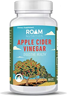 600mg Apple Cider Vinegar Pills � 60 Caps - Supports Weight Loss, All Natural Detox - High Potency - USA-Made, Non-GMO Dietary Supplement - Digestive Enzyme & Blood Circulation -by Roam Nutrition