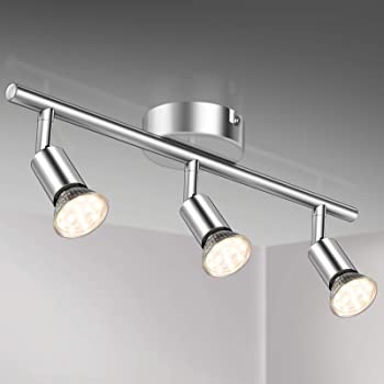 Defurhome LED Deckenleuchte Drehbar, 8 Flammig LED Strahler Deckenlampe  Spot,Modern Deckenstrahler (Weißes Chrom) für Küche, Wohnzimmer,  Schlafzimmer,
