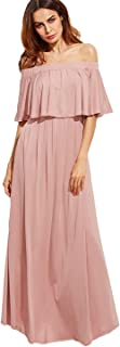 Best blush pink off the shoulder dress Reviews