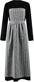 Classic Movie Sound of Music Maria Costume Women Black Dress with Gray Apron