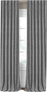 Elrene Home Fashions Colton 3 in 1 Room Darkening Heavy Weight Textured Linen Blend Window Panel 95-Inch 1-Pack Grey