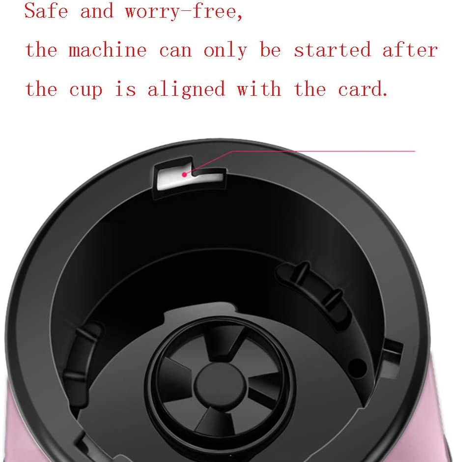 Copa Juicer, con botella de deporte de viaje 600 ml Extraíble 4 cuchillas de acero inoxidable Batidoras Preservación al vacío Batidora de batidos para batidos y batidos,Pink Pink