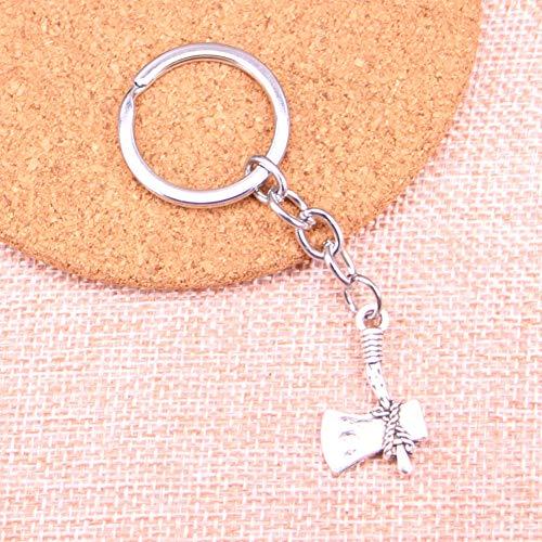 TAOZIAA steen bijl bedeltje hanger sleutelhanger sleutelhanger ketting accessoires sieraden