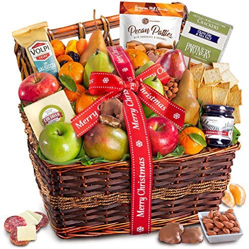 Gourmet Abundance Fruit Basket Gift (Merry Christmas)