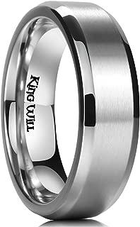 Basic 3mm 5mm 6mm 7mm 8mm 9mm Titanium Ring Matte Finished Wedding Band Comfort Fit Beveled Edge