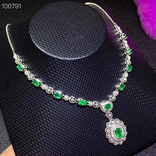 Natural Emerald Necklace, Emerald Pendant, Emerald Jewelry, Emerald Jewellery, Emerald Necklace Silver, Gifts For Her, Gold Plated Silver