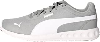Puma, Unisex adulto, Fallon Grey White, Tessuto tecnico, Sneakers, Grigio, 42 EU
