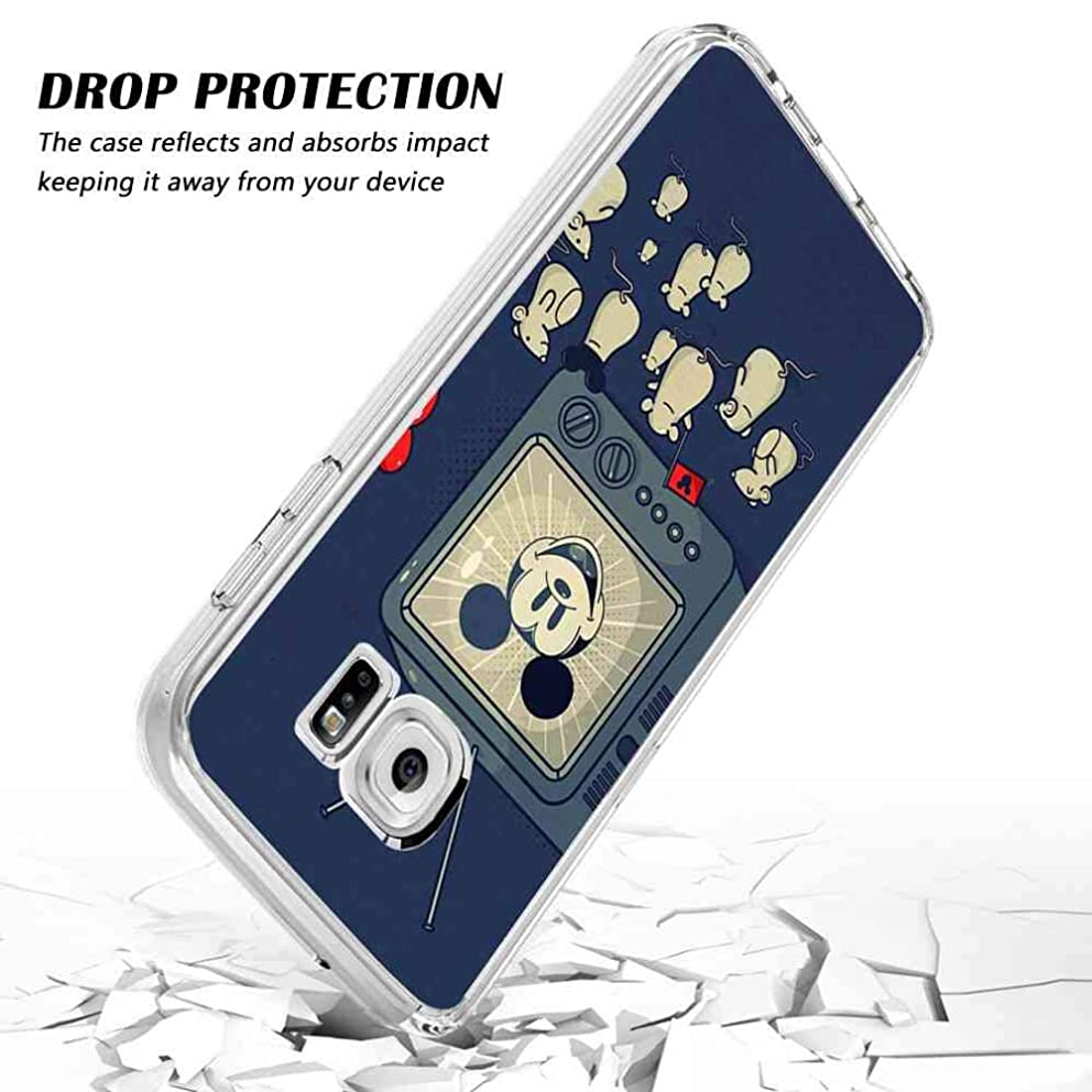 DISNEY COLLECTION Compatible Galaxy S7 (5.1inch) The mice are Watching Mickey Mouse on TV