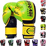 Farabi Boxing Gloves Boxing Gloves for Training Punching Sparring Muay Thai Kickboxing Gloves