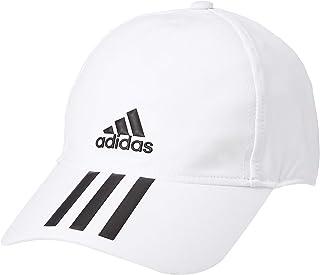 قبعة البيسبول ايرو ريدي بـ 3 خطوط 4Athlts للرجال من اديداس، ابيض (ابيض/ اسود)، OSFM