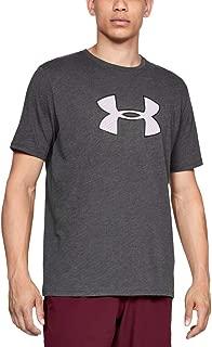 Under Armour Erkek Big Logo Kısa Kollu Tişört, Charcoal Medium Heather/White (Gri), XXL (XX-L) Beden
