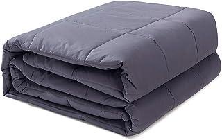ComfortAce Gewichtsdecke für Erwachsene,7 kgs Therapiedecke Schwere Decke für Angst und Schlafstörungen Schwerkraftdecke Anti Stress 140 x 200 cm Grau