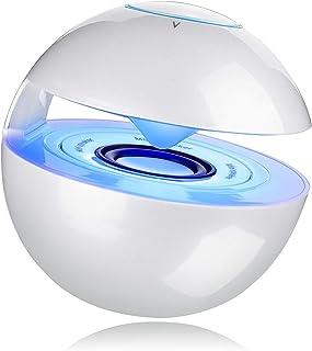 mini Bluetoothスピーカー【LEDライト付き/マイク内蔵/タッチボタン/SDカードサポート】贈り物(ホワイト)