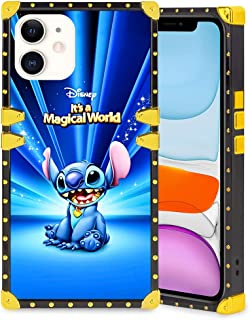 DISNEY COLLECTION Square Case Compatible iPhone 11 6.1 Inch It's A Magical World Luxury Elegant Soft TPU Shockproof Protective Metal Decoration Corner Back Cover Case
