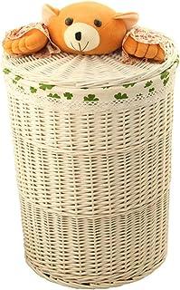Panier de rangement Grands paniers de stockage en osier faits à la main, paniers décoratifs et organisateur de salle de ba...