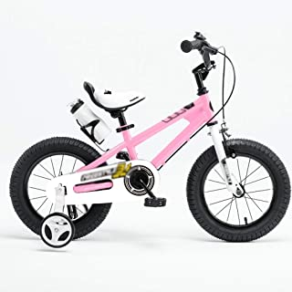 """Children's Bicycle Auxiliary Balance Wheel 12"""" Boy Bicycle Girl Bicycle Learning 14"""" Shock Absorber Mountain Bike (Color : Pink, Size : 12inches)"""