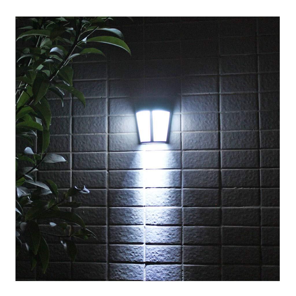 Zz max Luces LED solares para Exteriores - Puerta Frontal, Pared, Escalera, jardín, Paisaje, Patio y cercas Iluminación Control inalámbrico a Prueba de Agua IP65 (Color : White light-6500k): Amazon.es: Iluminación