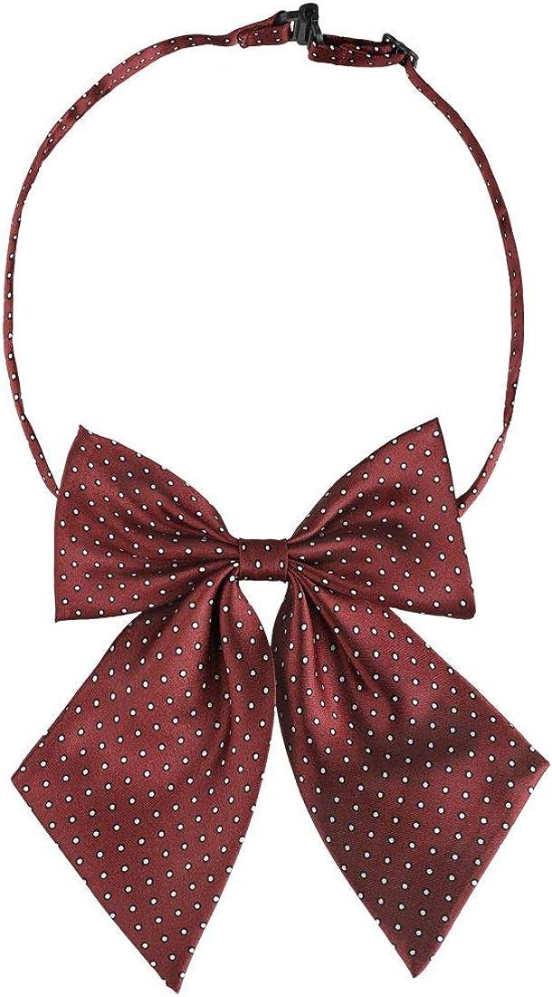 Allegra K Dots Pre-Tied Bowknot Bow Tie for Women Men Bowtie Adjustable Strap