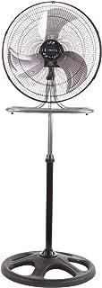 BRISA Ventilador 2 en 1 (Pedestal y Pared), Modelo PO2N1-18, 100% Metálico, Oscilatorio, Motor con Alambre de Cobre y Prot...
