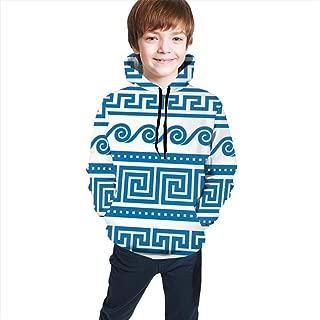 Set Greek Borders Teen Baseball Hoodies 3D Boys Girls Printed Sweatshirts Hooded