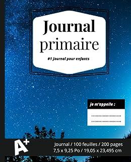 Journal Primaire: Journal Principal marbre noir, livre de composition, journal de dessin et d'écriture, haut non ligné, mo...