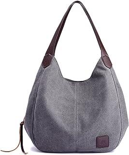 ecc6751664af Women Fashion Canvas Shoulder Bag Casual Cotton Canvas Handbag Travel Tote  Purse